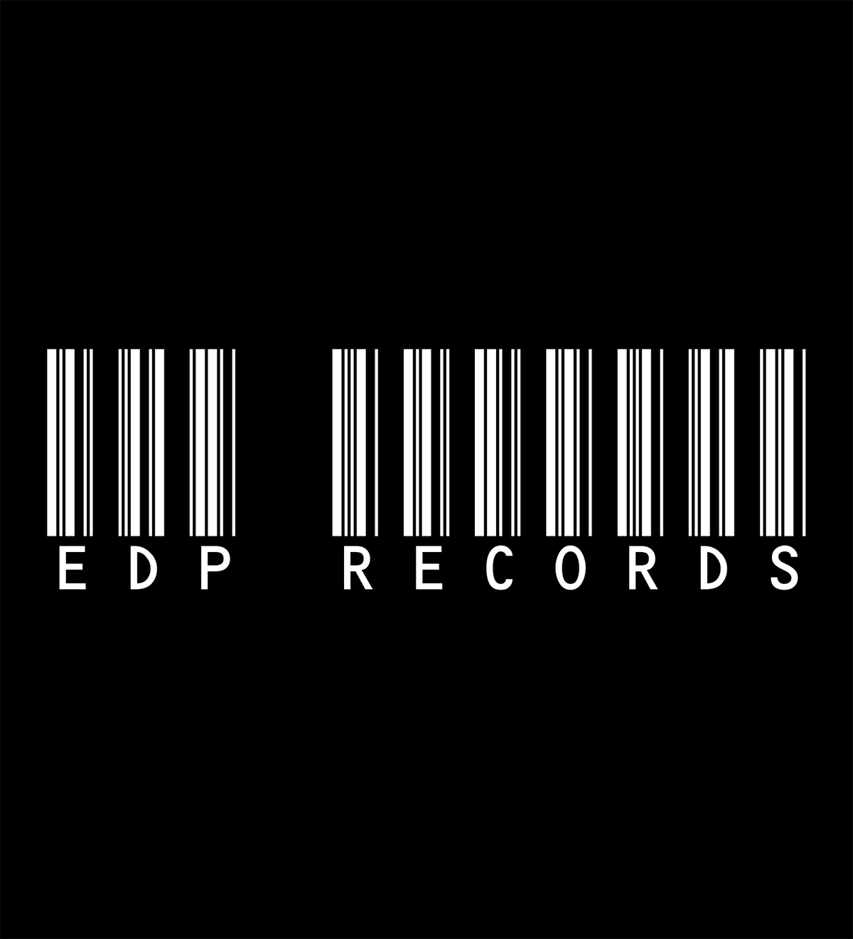 EDP Records Barcode White