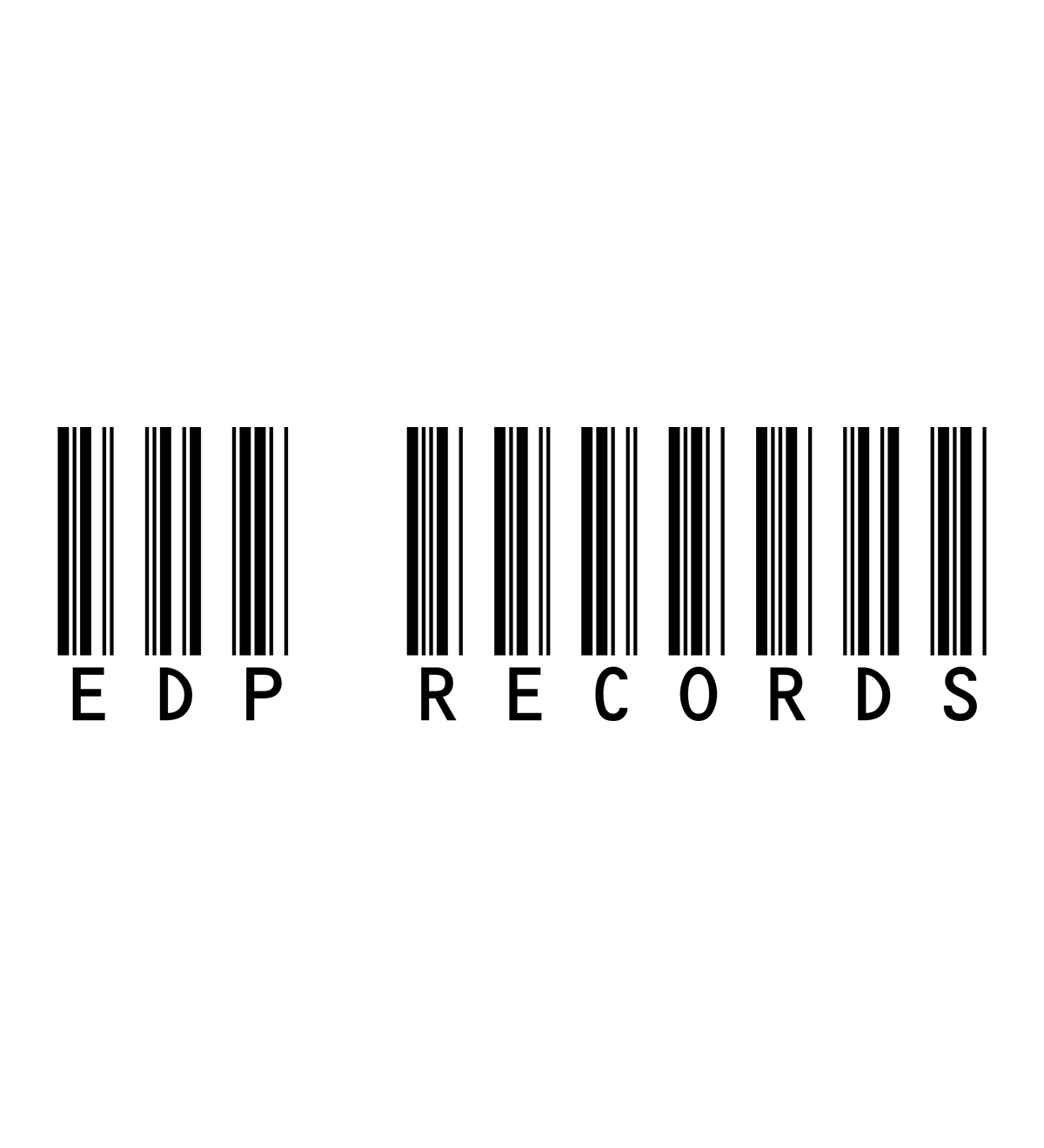 EDP Records Barcode Black